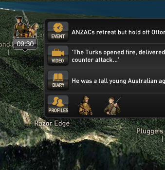 The ability to explore Gallipoli geographically in 3D, linking with timeline and stories, video, images from the ANZAC campaign of 1915 is a pretty amazing use of online mapping and content organization software.. www.abc.net.au/innovation/gallipoli/gallipoli2.htm