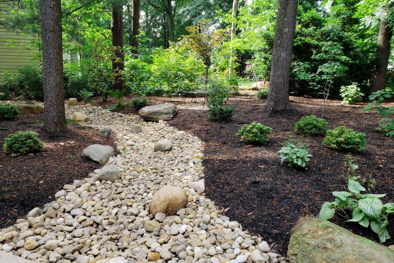 Drainage/Dry Creek Beds » French Drain Installation