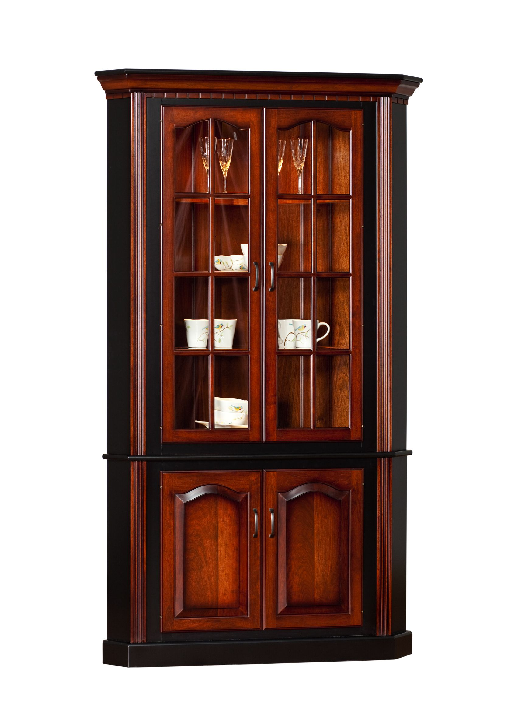 Beautiful Case Goods :: Traditional Corner Hutch   Martins Furniture   Lancaster PA   Donu0027