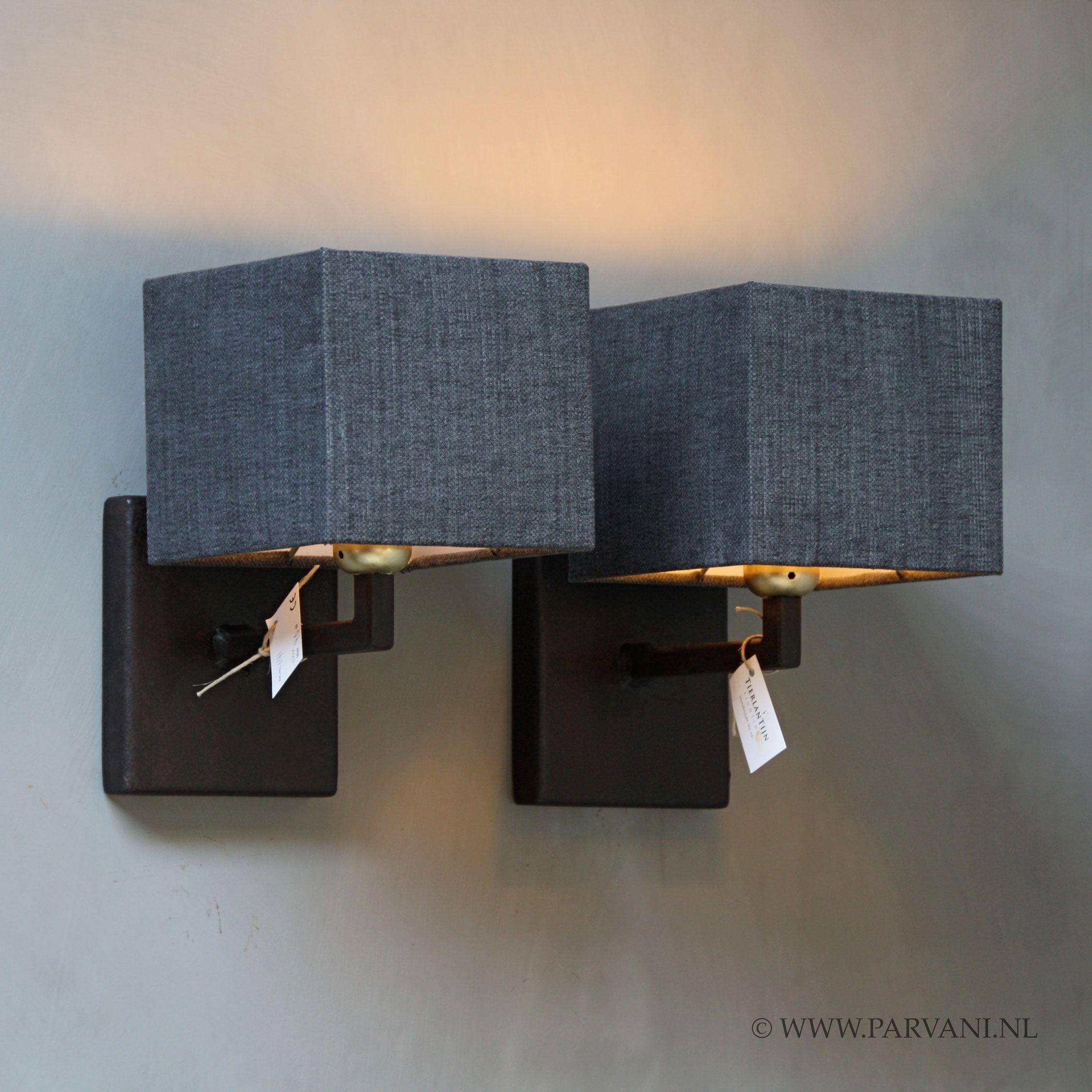 Parvani | Wandlampjes-Tierlantijn-Limena-ijzer-vierkant - Parvani ...