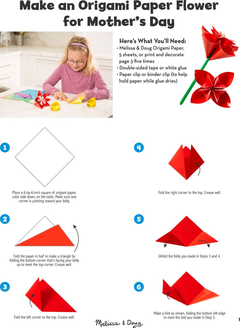Photo of DIY: Origami Paper Flower for Mother's Day | Melissa & Doug Blog