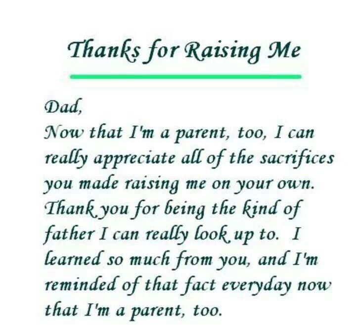 Parent | Serious Quotes & Stuff | Thank you dad, Letter to
