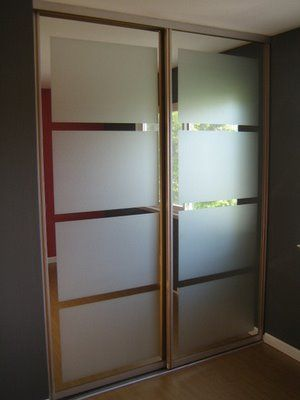 Diy Frosted Mirror Ranch Mirror Closet Doors Closet