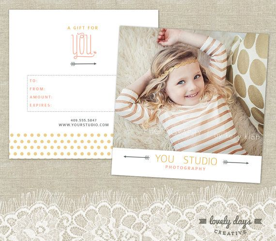 Photography Gift Certificate Template for Professional Photographers ...