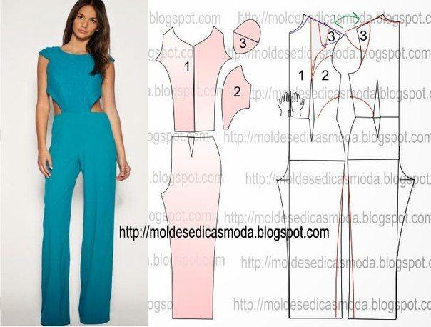 e95f204d62d Como hacer un palazzo con moldes | Fashion y estilo | Costura ...