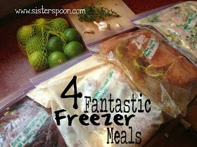 Sister Spoon: Four Fantastic Freezer Meals I will add more liquid and make all of these for the crock pot!!
