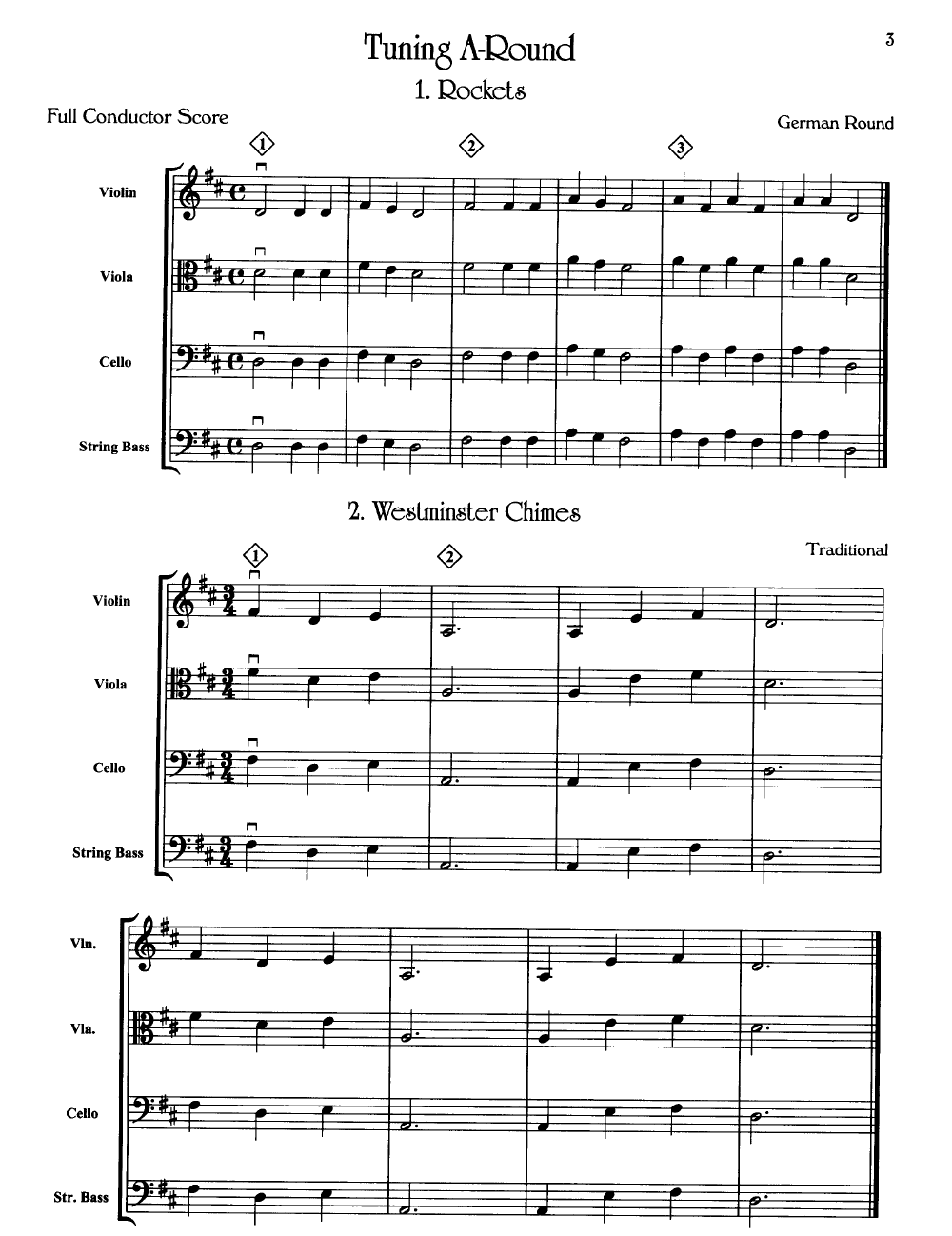 Tuning a Round by BELL, R J.W. Pepper Sheet Music