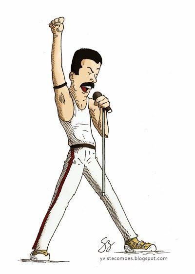 Freddie Mercury by yvistecomoes.blogspot