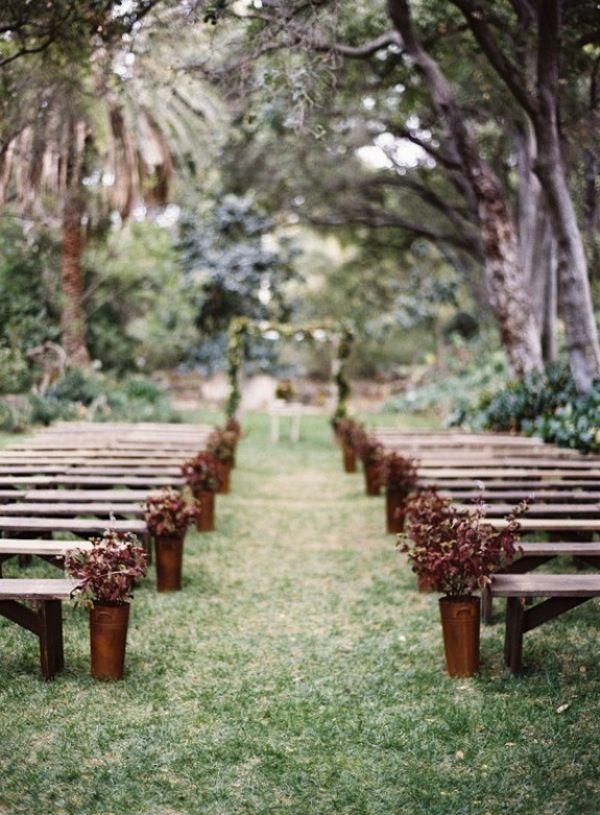 Wedding Inspirations Ceremony Decor Outdoor