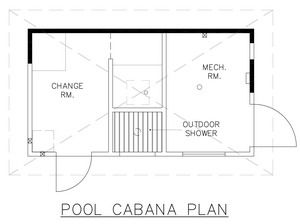 visit our website for customized pool house floor plans. | pool