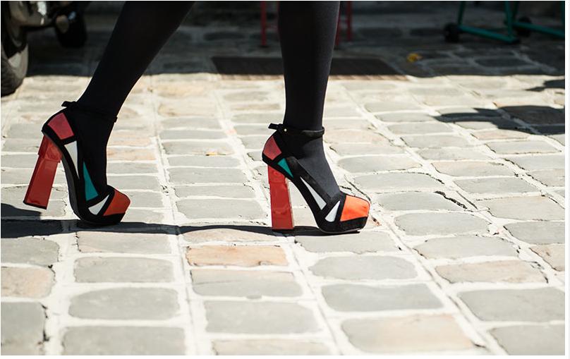Leaf Greener wearing Aperlaï Geisha Mondrian during Paris Haute Couture Week - Shooted by Wimiry