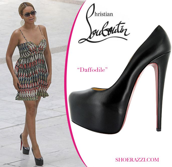 Celebrity craze about Christian Louboutin Daffodile platforms - cathyoyochen