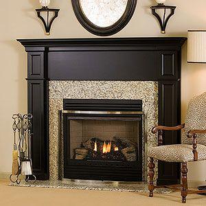 Black Fireplace Mantels On Pinterest Painted Fireplace Mantels Black Fireplace And Feminine