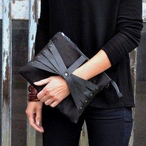 Leather Web Detail-laukku, pellava