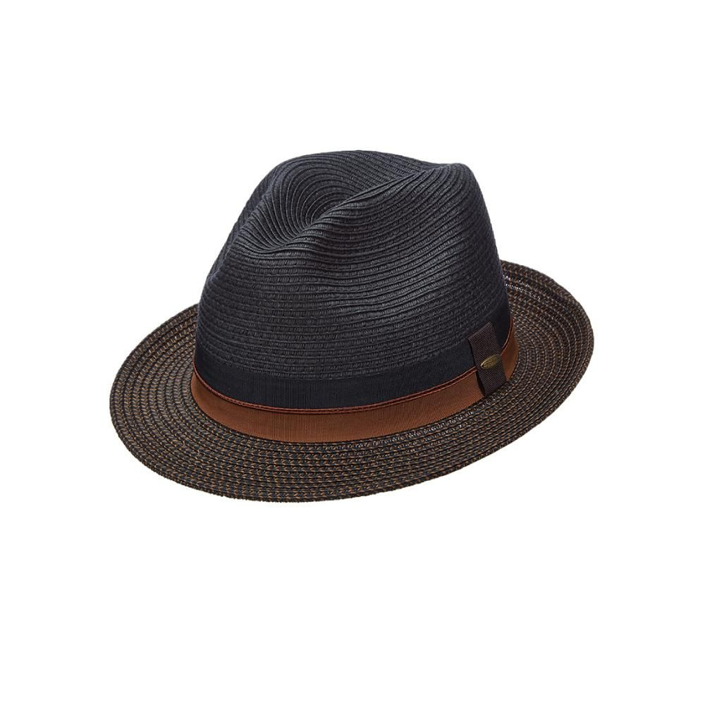 4fd8a8ebf5ecbb This isn't your ordinary fedora. This Scala men's fedora has a tri-tone  braid brim and a layered grosgrain band for just a touch of color and a  unique, ...