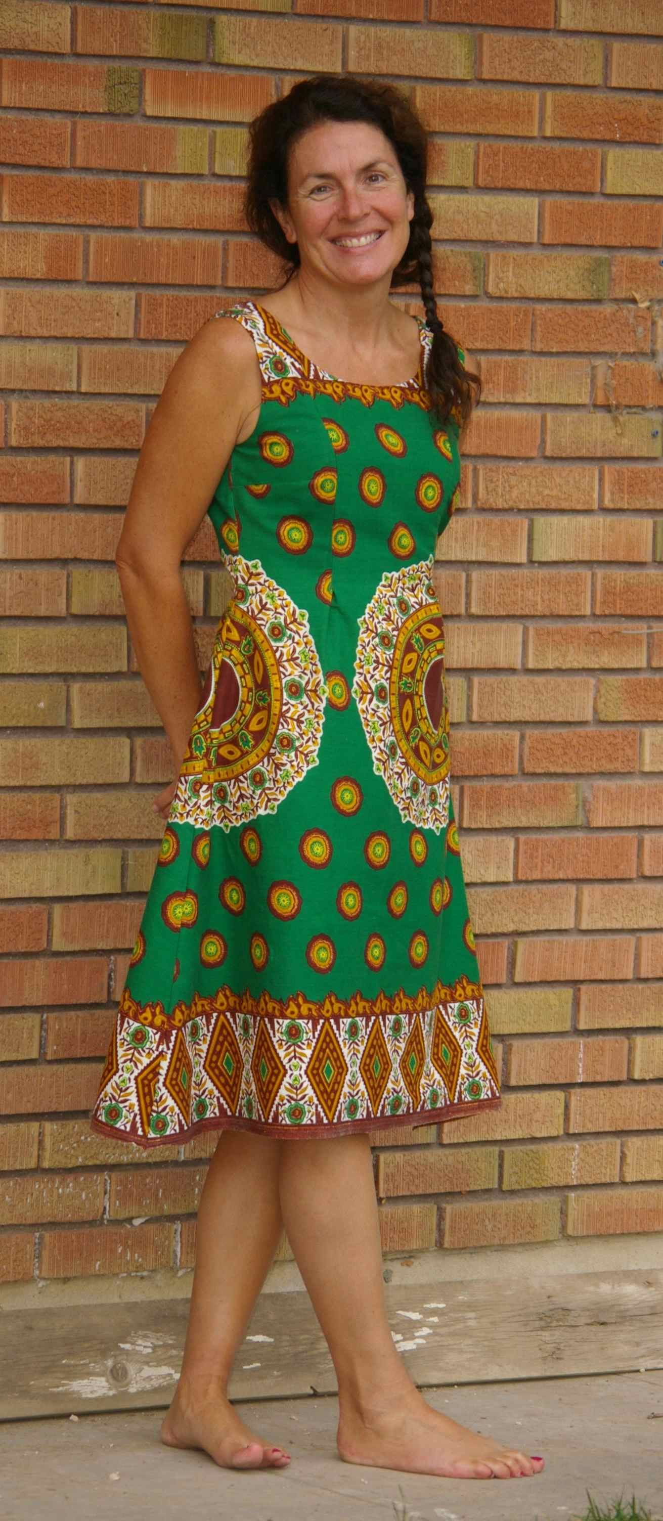 Me In The African Border Print Dress Butterick Pattern