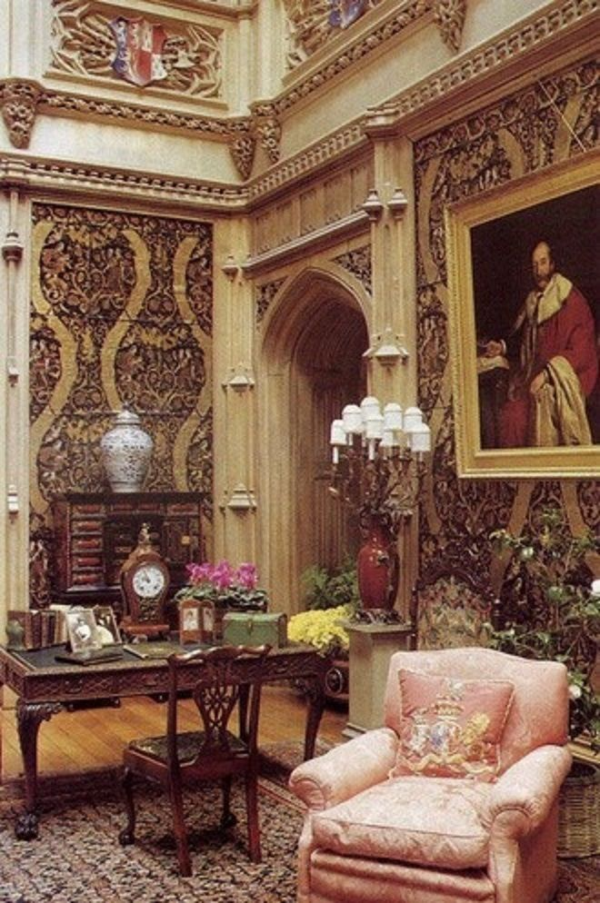 Castle Interior Design Set grand salon  highclear castle, the set of downton abbey | downton