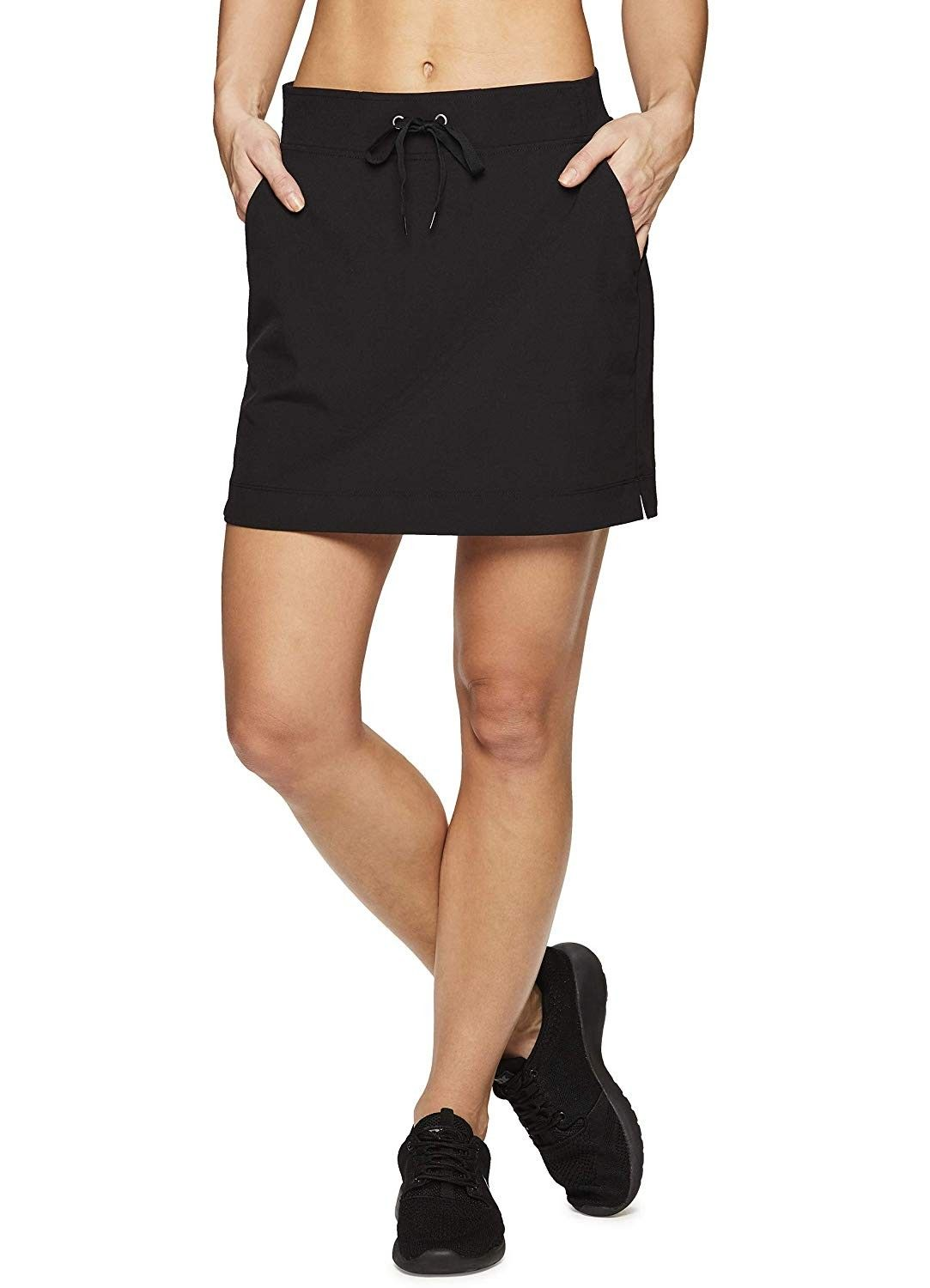 Active Women's Golf/Tennis Everyday Casual Athletic Skort with Bike Shorts - S19 Black - CQ18O7LDUL5...