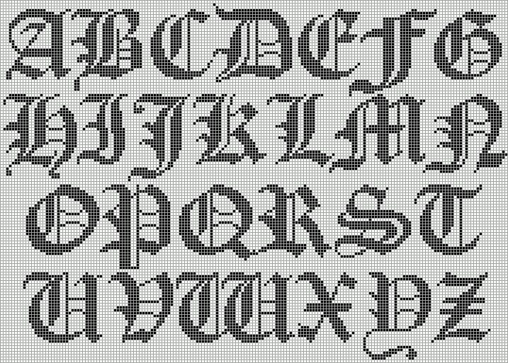 Cross Stitch Alphabet Chart Cross Stitch Alphabet Cross Stitch Alphabet Patterns Cross Stitch Fonts