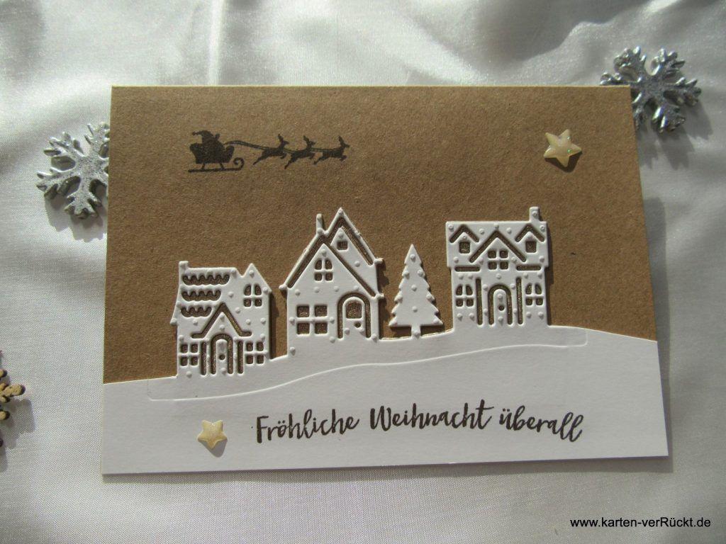 stampin up weihnachten daheim karten verr ckt. Black Bedroom Furniture Sets. Home Design Ideas