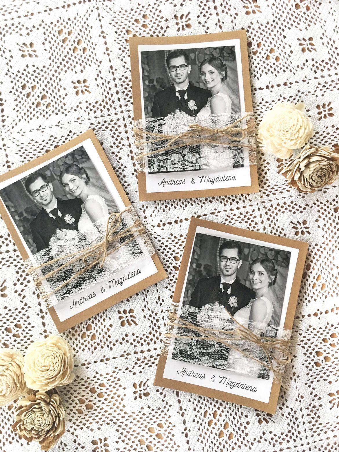 Hochzeits-DIY – Anleitung für Dankeskarten zur Hochzeit im Vintagestil