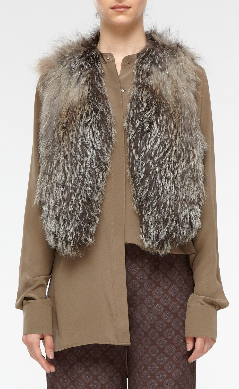 i want this sooooo bad!   Cross Fox Fur Vest | Vince