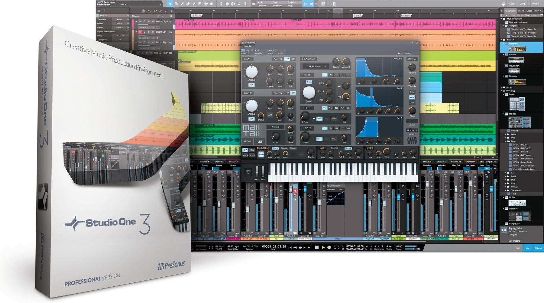 Presonus studio one 35 professional download digital