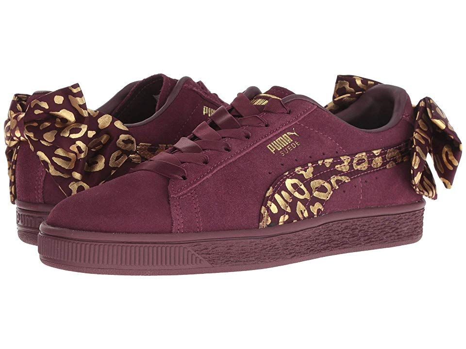 a96e30f2f4 Puma Kids Suede Bow Athluxe Jr (Big Kid) (Fig Puma Team Gold) Girls Shoes.  Give her the extra attention to detail she loves with the trendy Puma Kids  Suede ...