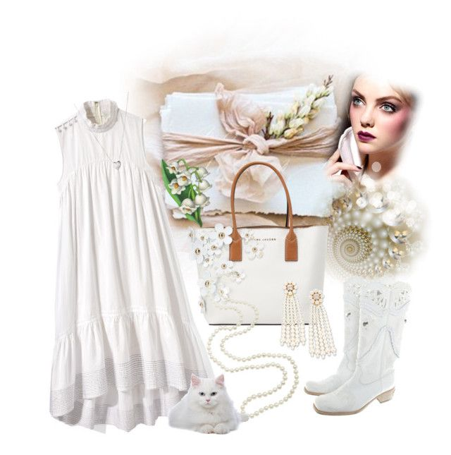 """""""Summer Day in White"""" by sherrysrosecottage-1 ❤ liked on Polyvore featuring 3.1 Phillip Lim, Marc Jacobs, Richmond, STELLA McCARTNEY, Links of London, WhiteOnWhite, whitedress and fashionset"""