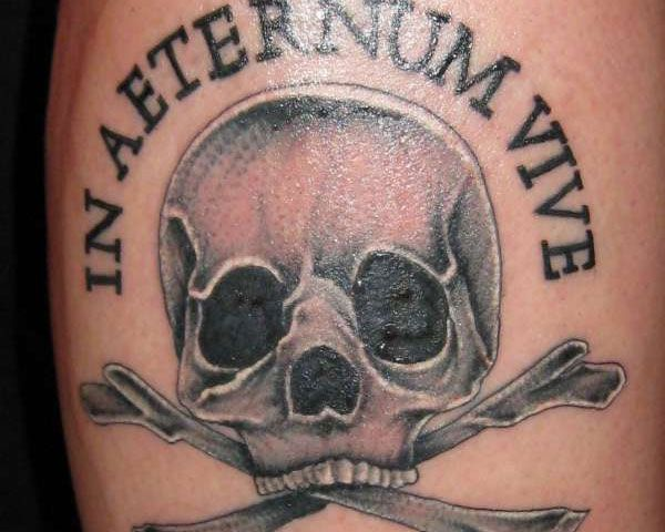 Live forever the pirate flag symbol with a liner meaning for Pirate tattoo meaning