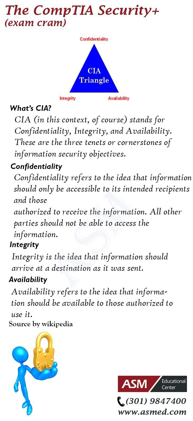 Comptia Security Whats Cia For More Information To Get