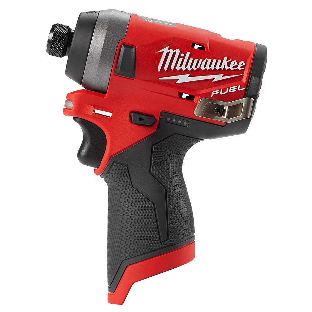 Milwaukee M12 Fuel 12 Volt Lithium Ion Brushless Cordless 1 4 In Hex Impact Driver Tool Only Milwaukee Tools Driver Tool Milwaukee M12