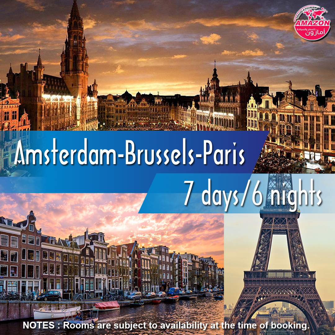 Explore Amsterdam Brussels Paris During A 7 Days 6 Nights Holiday Package Includes 02 Nights Stay At Amst Amsterdam Tours Amsterdam City Hotel Station