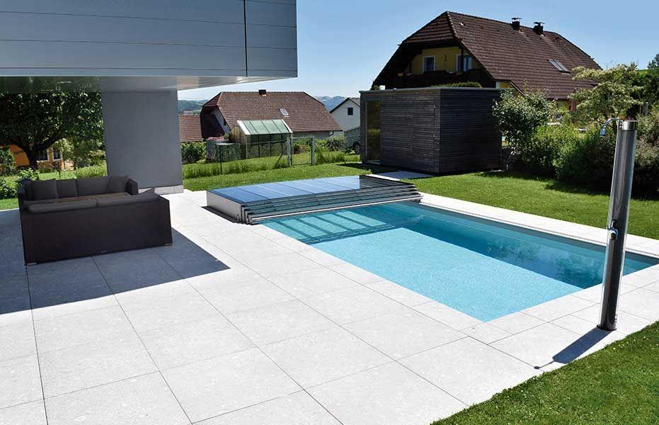 Kratzfeste Poolüberdachung aus Echtglas Made in Austria