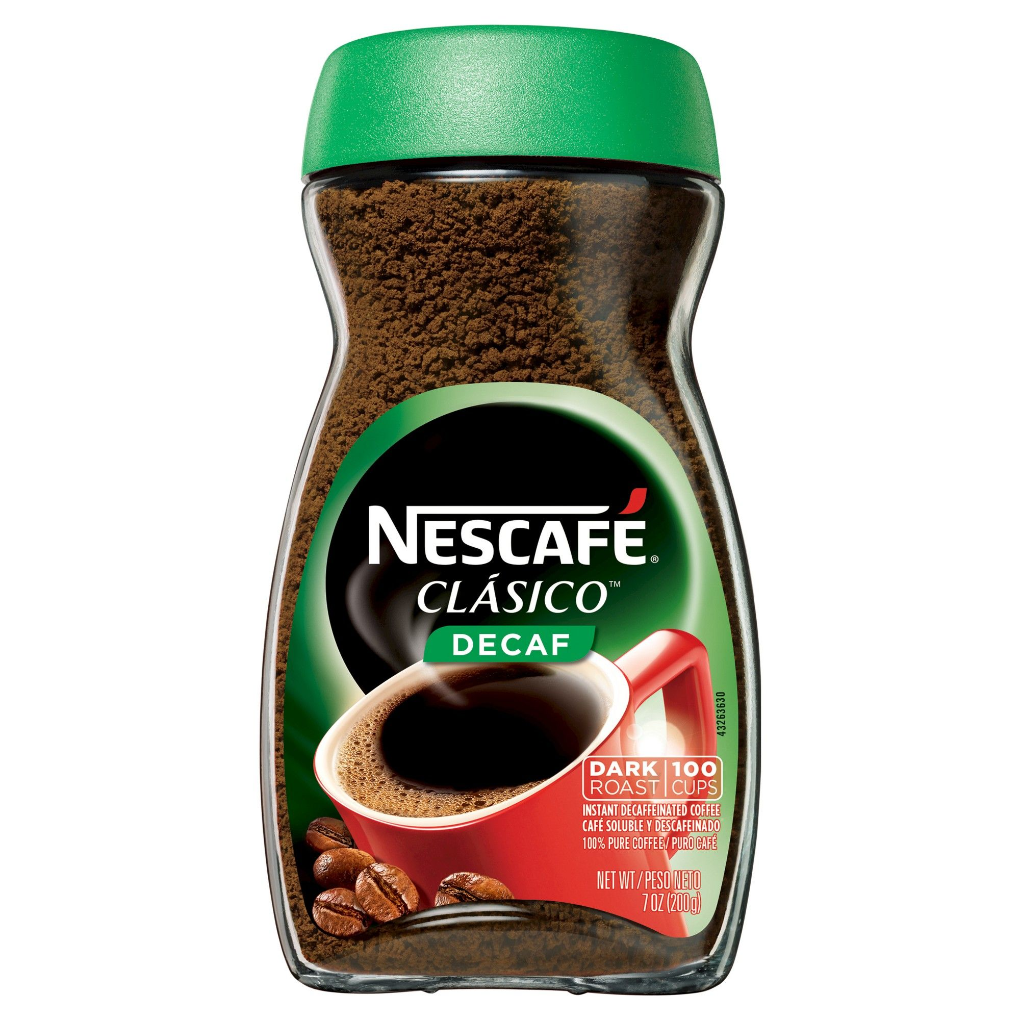 Nescafé Clasico Dark Roast Instant Coffee Decaf 7oz