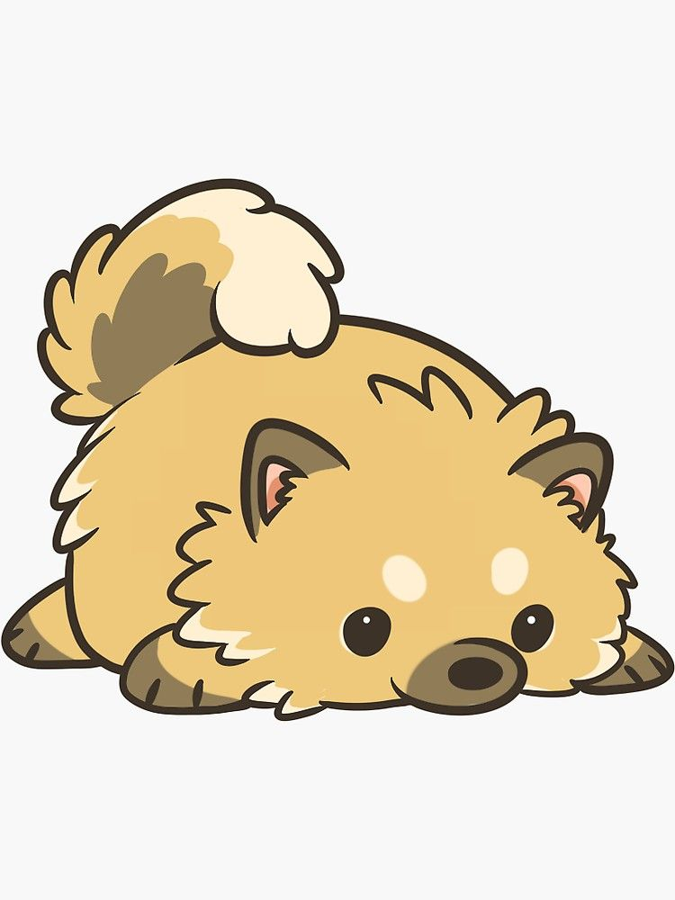 Miniature Pomeranian Sticker Cute Stickers