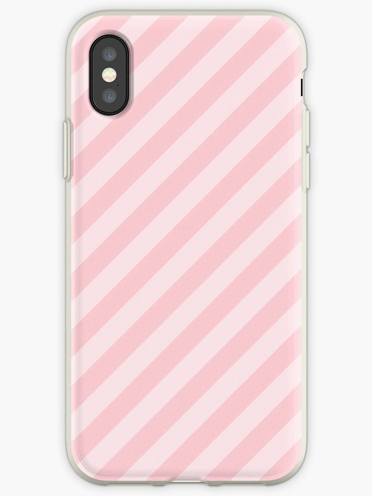 Light Millennial Pink Pastel Candy Cane Stripes iPhone