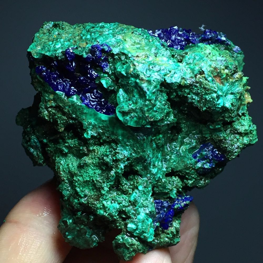 156g Glittering azurite malachite Mineral Specimen/in anhui province, China