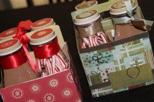 Hot coco gifts.  A mini coco bar in a box for a friend.