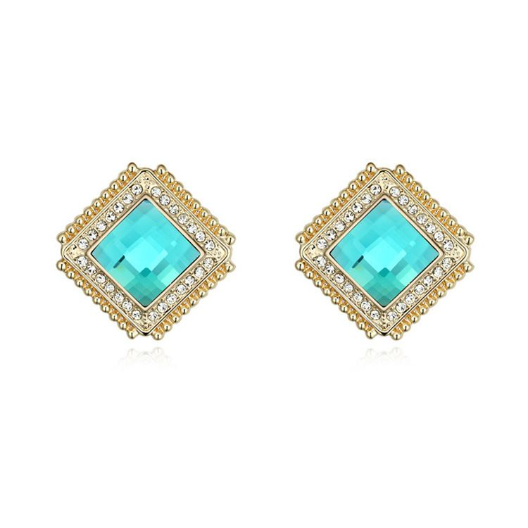 stud silver clear women jewelry earrings tiny delicate products square in sterling for wedding fine zircon