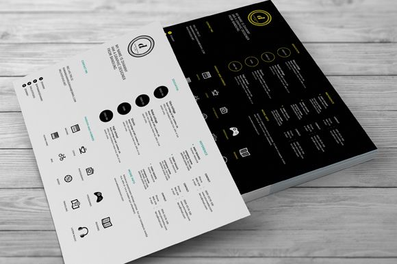 Creative Resumes by celcius design on Creative Market Resume - landscape resume