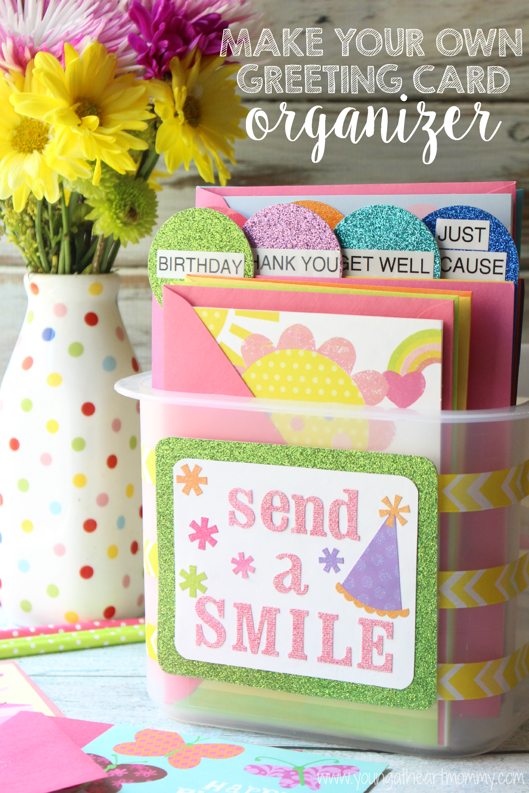 DIY Greeting Card Organizer SendSmiles Ad Cbias