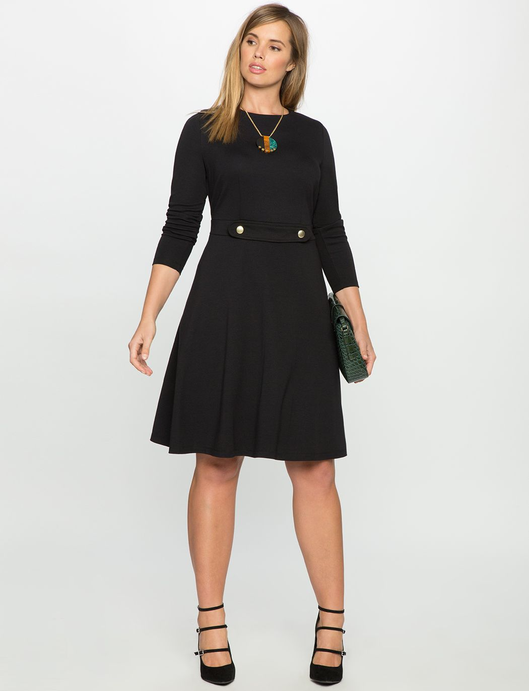 28++ Black long sleeve fit and flare dress ideas in 2021