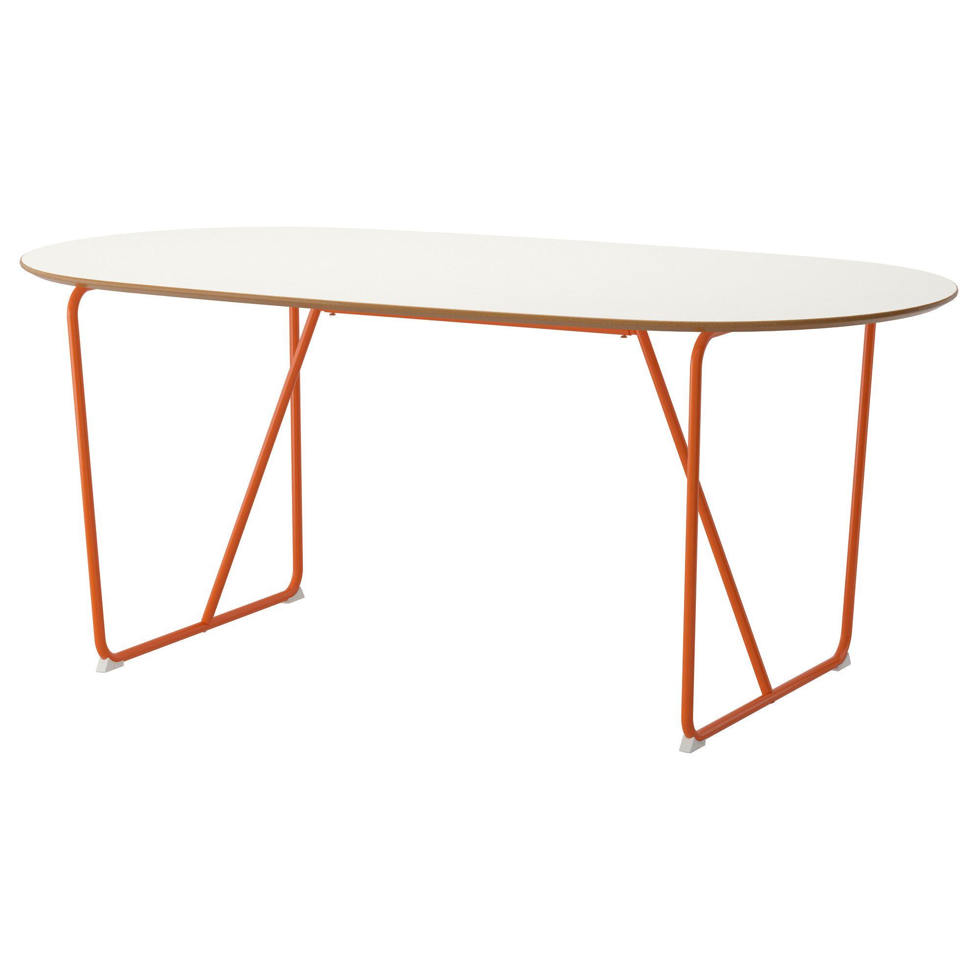 SLÄHULT Table, white, Backaryd orange | Pinterest | Tisch weiß ...