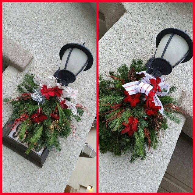 Outdoor light wreaths