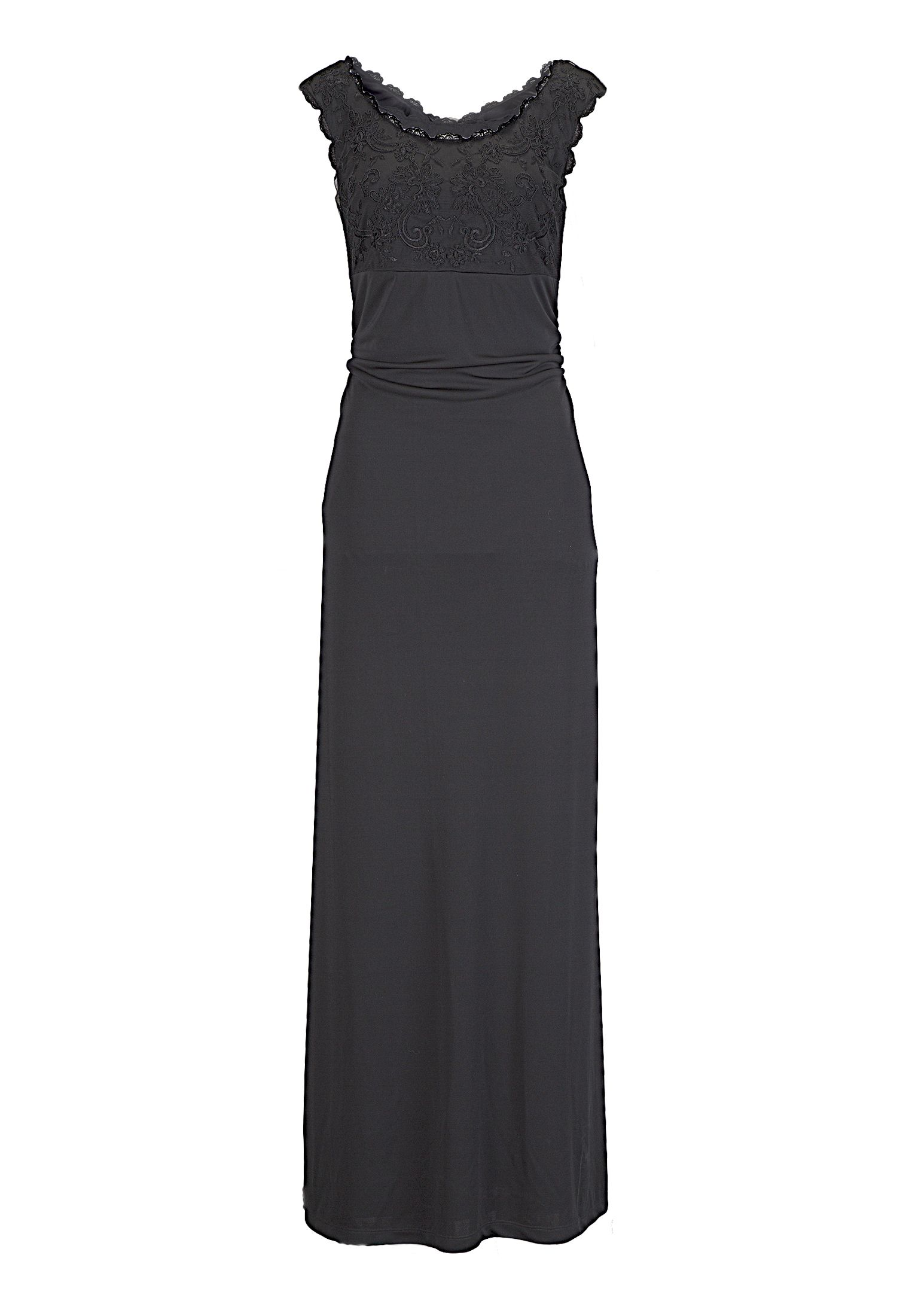 Vera mont abendkleid lang schwarz