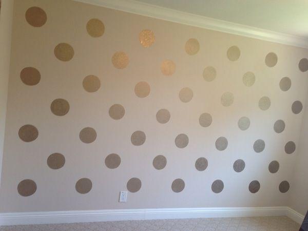 Parete A Pois Fai Da Te : Reader submission gold polka dots and ombre wall cloeys room