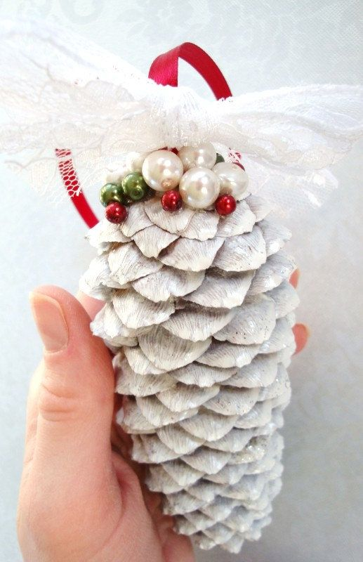Pine Cone Ornament. Such a Pretty Christmas Decoration, made by Pennie at Pernillas Something Swedish on Etsy, $7.99