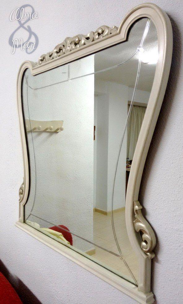 Renovación con pintura de un marco de espejo antiguo incluido ...