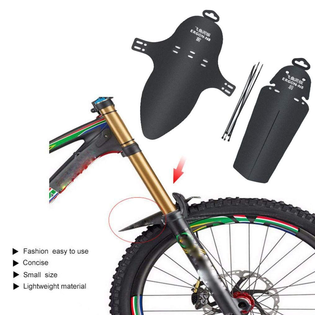 2pcs Mudguard Mountain Bike Tire Fender Bicycle Road Front Rear Mud Guard